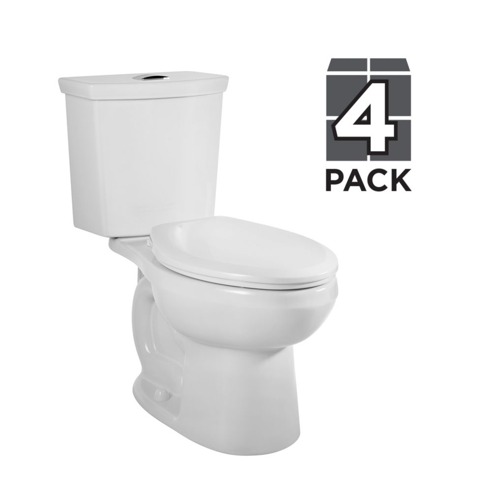American Standard Cadet 3 2 Piece 6 Lpf Dual Flush Elongated Bowl Toilet In White Pack The Home Depot Canada
