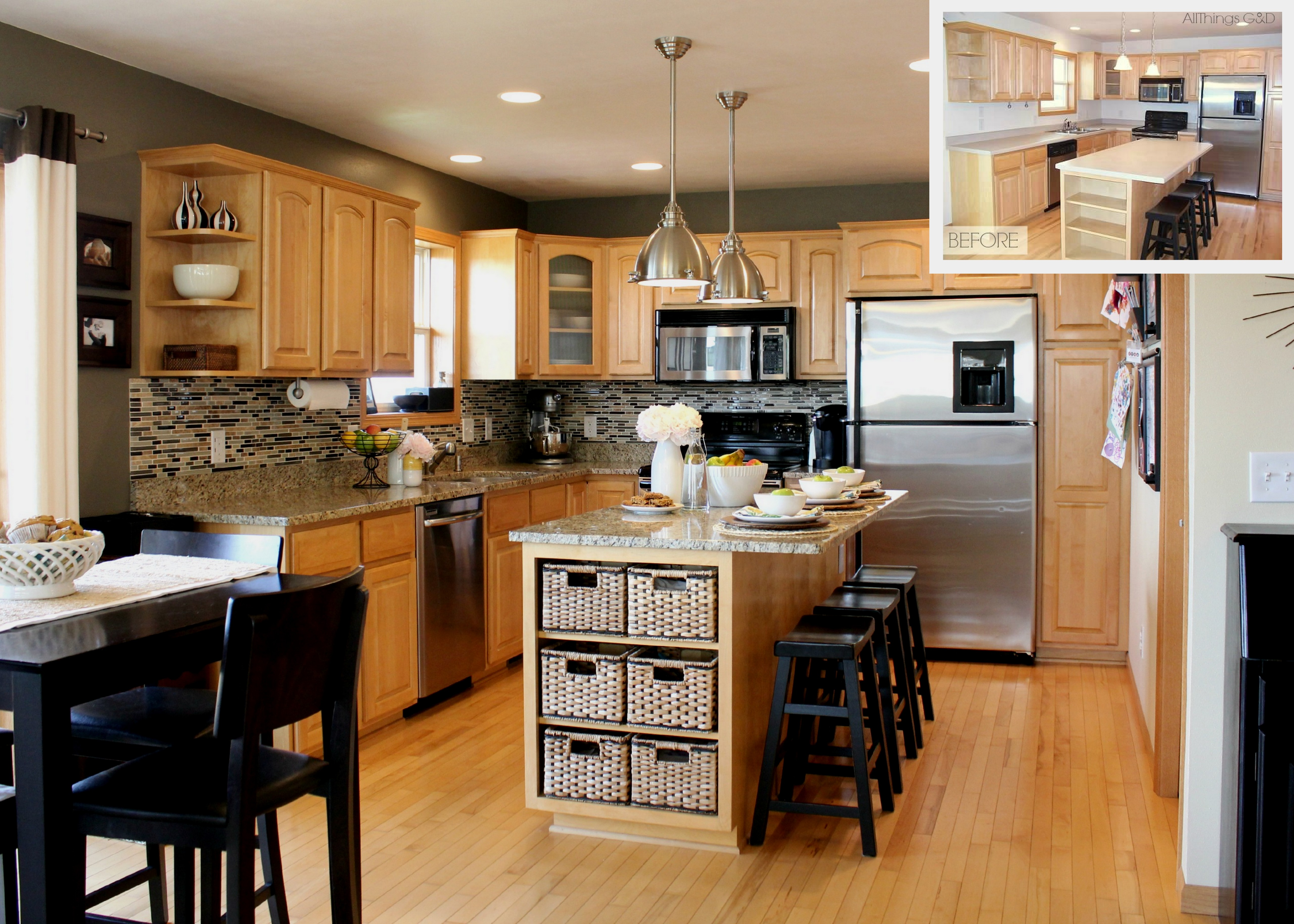 Black Kitchen Cabinets What Color On Wall Home Sweet Home Homedesign121