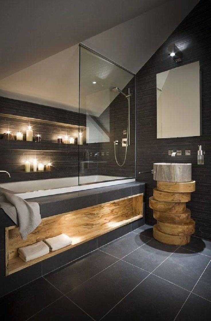 Traumbad Pinterest Wood And Tile Inspired Bathroom Design Homedesignboard
