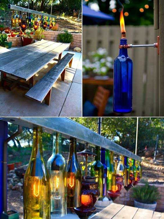 Idee Deco Terrasse Pas Cher 20 Awesome Ideas How To Make Wine Bottle Lights