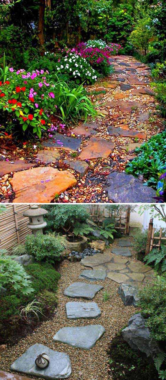 Gartengestaltung Modern Design Lay A Stepping Stones And Path Combo To Update Your