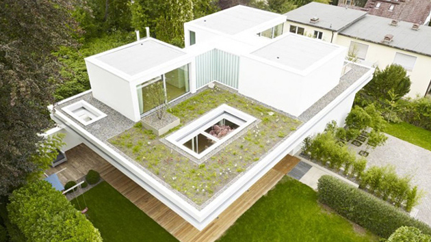 Bungalow Aufstocken The Distinct And Simple Rooftop Garden Of House S | Home