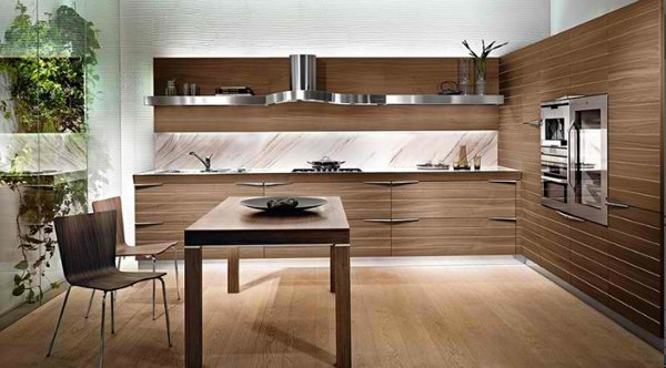 Grijze Keuken Met Donker Blad 20 Sleek And Natural Modern Wooden Kitchen Designs | Home