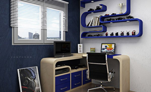 Boy Bedroom Designs 20 Ingenious Workspaces For Teenage Boys | Home Design Lover
