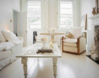 Distressed yet Pretty White Shabby Chic Living Rooms ...
