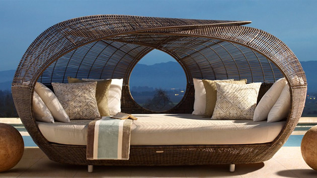 Beach Chaise With Canopy Make Outdoor Living Comfy With 15 Rattan Daybeds | Home