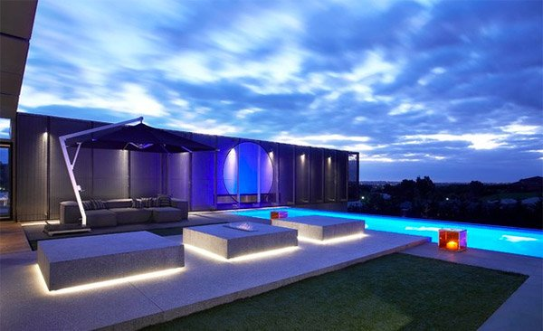 Modern Outdoor Bench 15 Dramatic Landscape Lighting Ideas | Home Design Lover