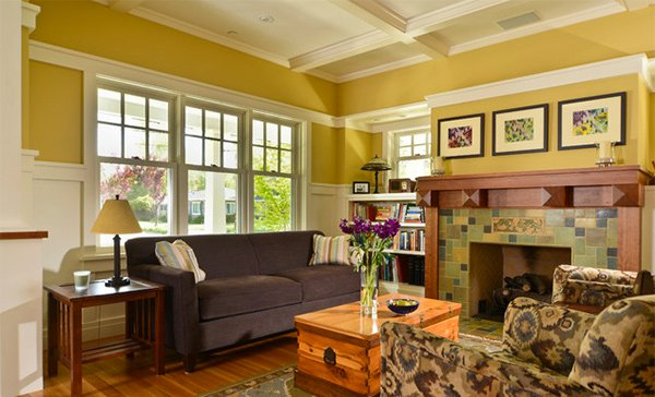 15 Warm Craftsman Living Room Designs
