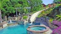 15 Gorgeous Swimming Pool Slides   Home Design Lover