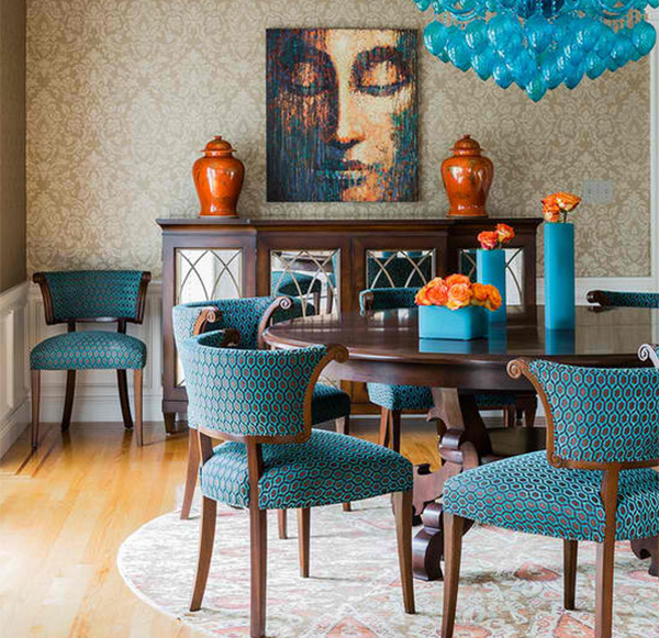 Modern Retaining Wall How To Get A Blue And Orange Dining Room | Home Design Lover