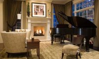 Rustic Living Room With A Grand Piano - Modern home design ...