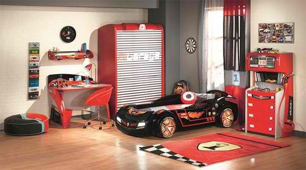 Racing Car Bedroom Wallpaper Zoom With Style In 20 Car Themed Bedroom For Your Boys