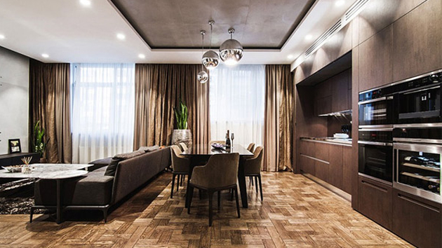 Strong And Bold Interior Of A Modern Apartment In Kiev Ukraine