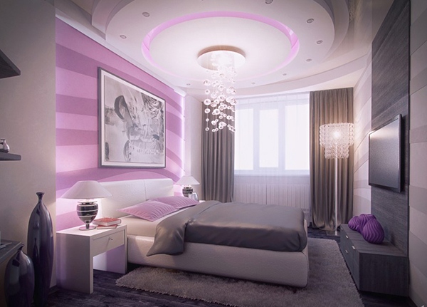 Minecraft Schlafzimmer Modern 20 Master Bedrooms With Purple Accents | Home Design Lover