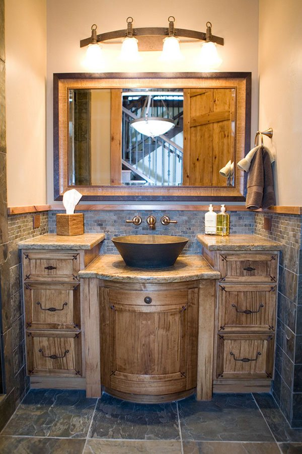 26 Impressive Ideas Of Rustic Bathroom Vanity Home Design Lover