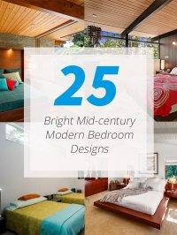 25 Bright Mid-century Modern Bedroom Designs | Home Design ...