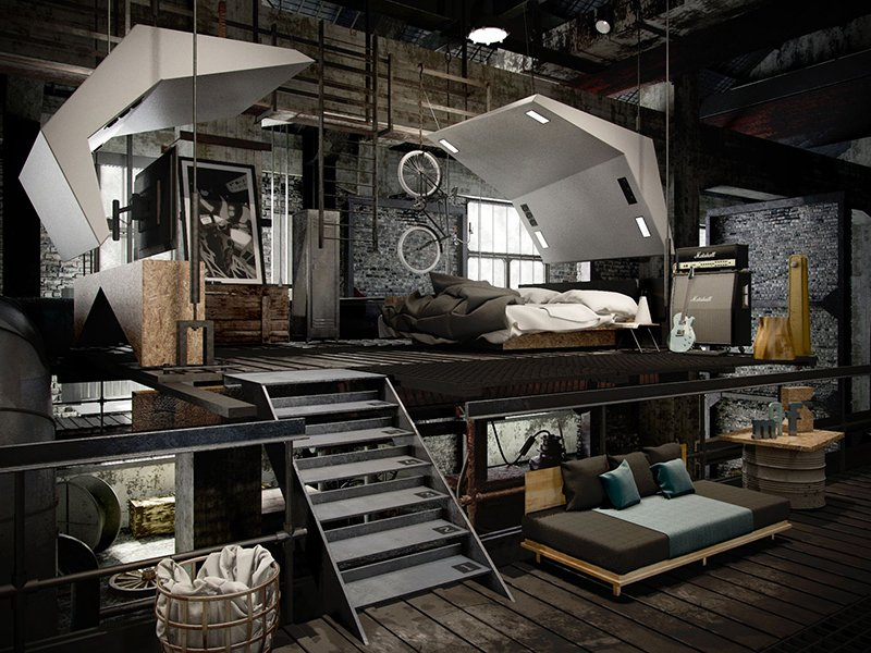 Schlafzimmer Industrial 22 Mind Blowing Loft-style Bedroom Designs | Home Design Lover
