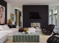 20 Knockout Black Accent Wall in the Living Room   Home ...