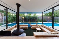 Swimming Pool House Featuring a Sunken Living Room | Home ...
