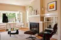 20 Painted Brick Fireplaces in the Living Room | Home ...