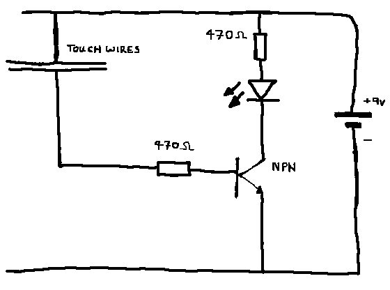 touch switch with transistors
