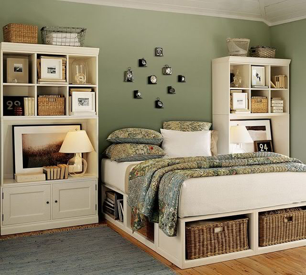 Room Ideas Bedroom Storage Tips On Using Wicker Items For The Interiors | Interior