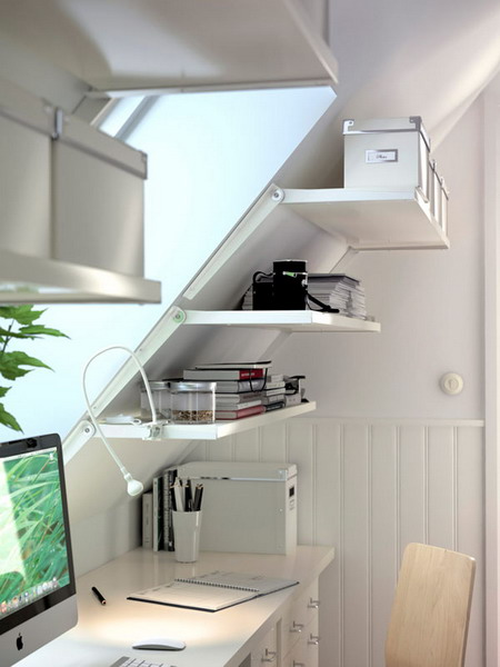 Wall Unit Desk Desk Under Stairs Design Ideas | Office Under Staircase