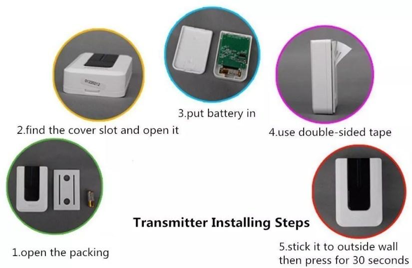 Wireless Doorbell kit installation