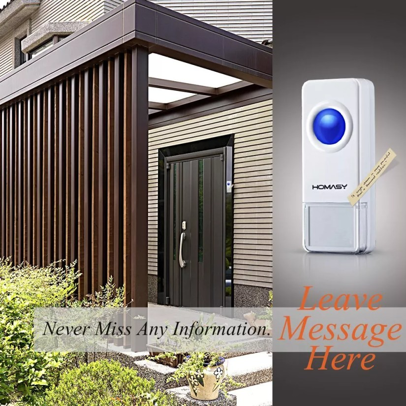 homasy waterproof wireless doorbell
