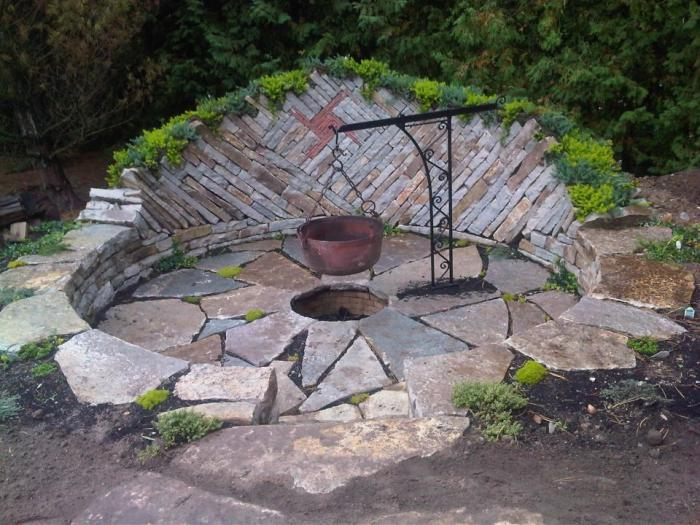 Backyard Fire Pits Ideas Large And Beautiful Photos