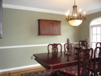 Dining room paint ideas with chair rail - large and ...