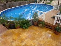 Backyard above ground pool ideas - large and beautiful ...