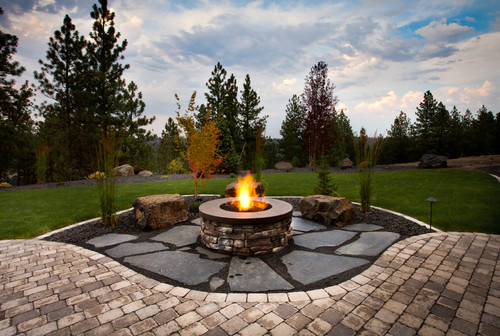 Backyard Designs With Fire Pits Large And Beautiful