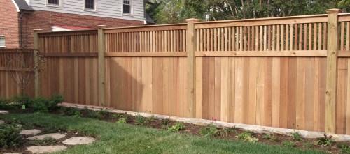 Medium Of Backyard Fence Idea