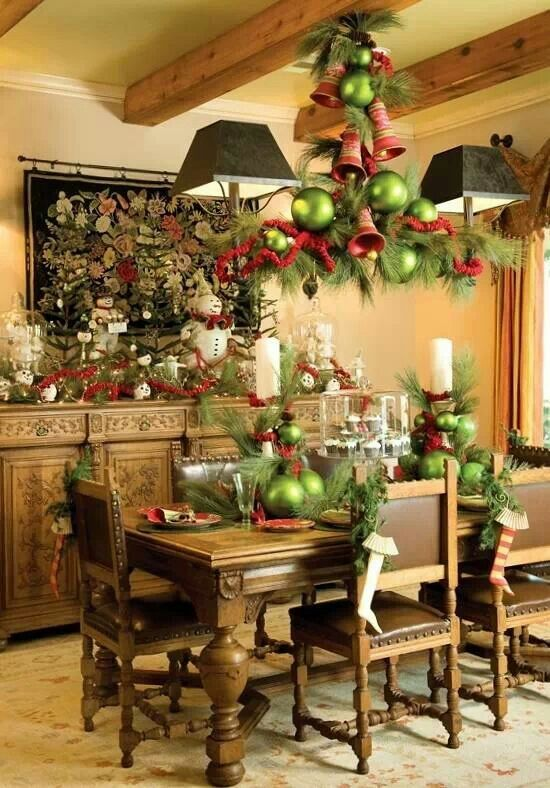 Christmas dining room table decorations - large and beautiful - christmas room decorations