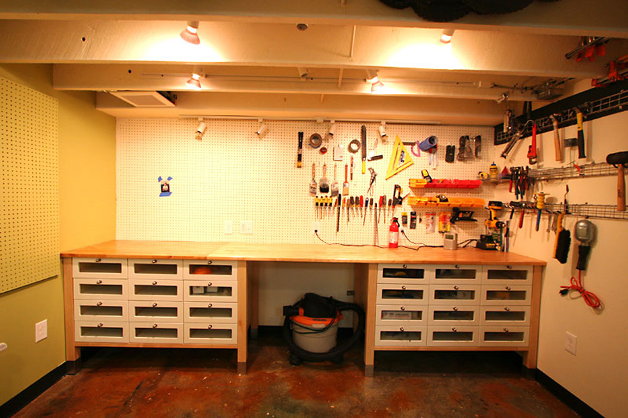 Garage workshop storage ideas - large and beautiful photos Photo - home workshop ideas