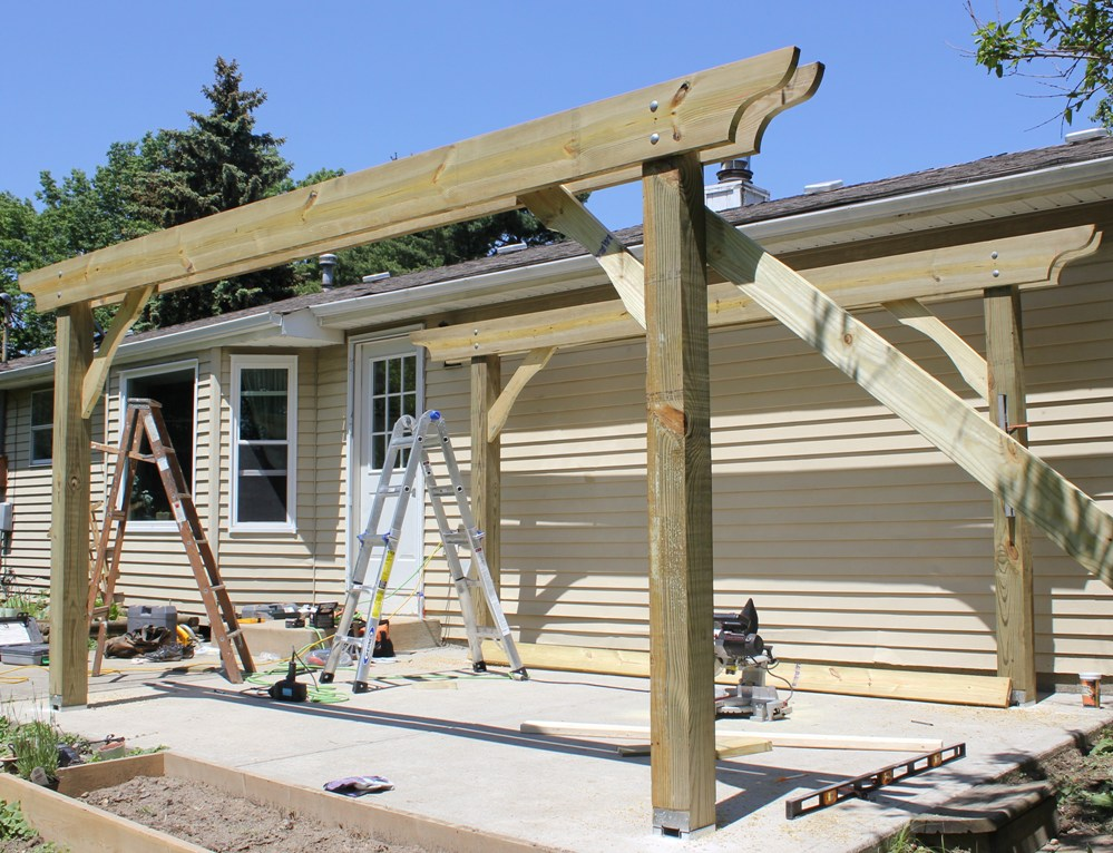 How To Build A Pergola In Two Days On A Budget Detailed How To