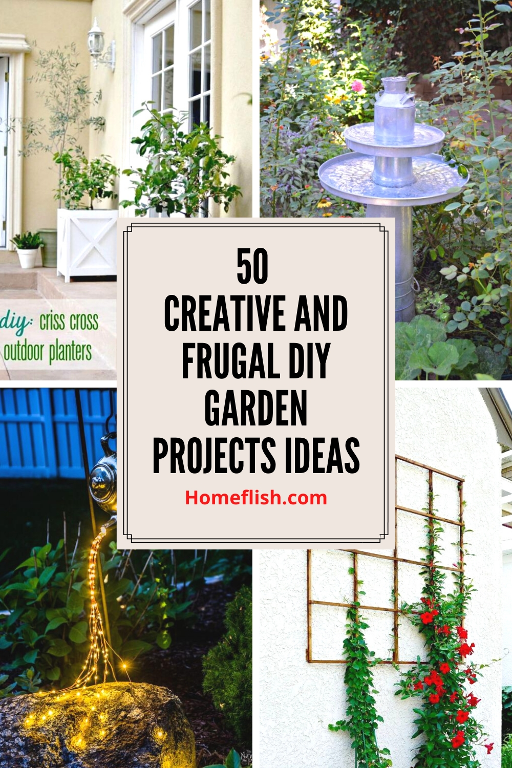 50 Creative And Frugal Diy Garden Projects Ideas Homeflish