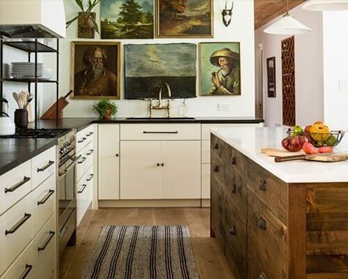 Unfinished Kitchen Island Breakfast Bar 15 Ways To Use Recycled Old Hardwood Flooring