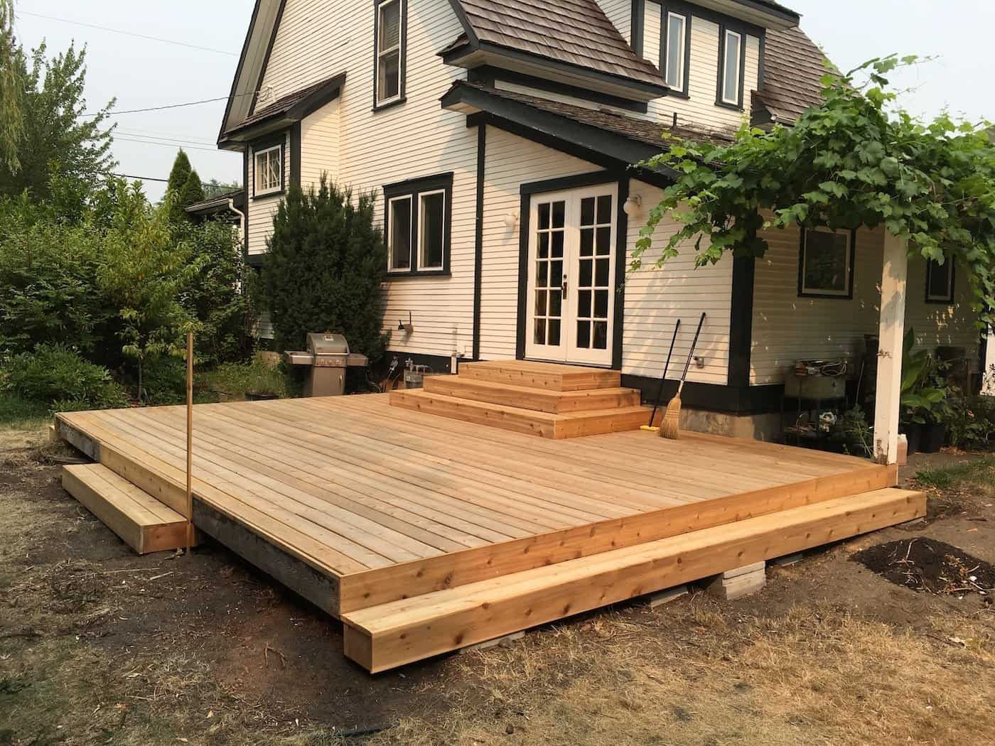Home Depot Cedar Deck Boards Diy Deck Project Installing Beautiful New Cedar Decking To