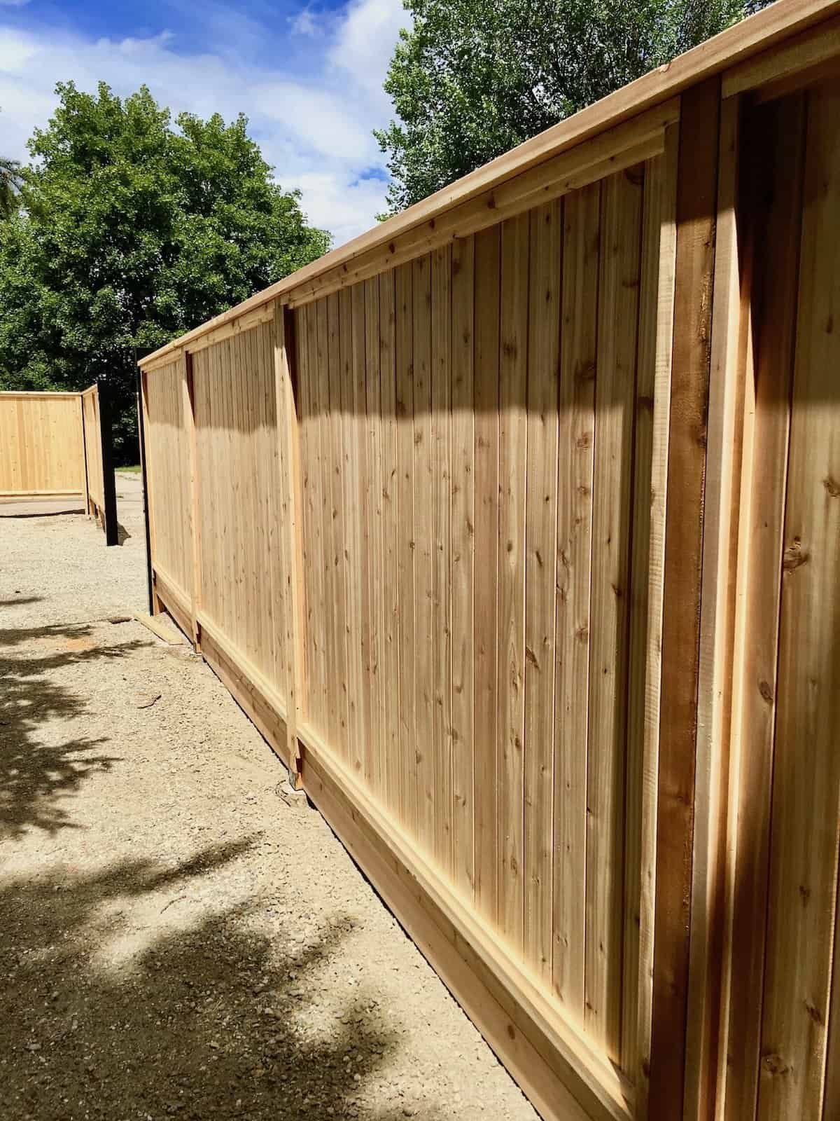 Backyard Fence Privacy Fence Using Wood Fence Panels To Create Privacy Fencing