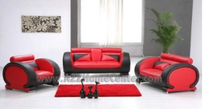 adrian red chair value city furniture casablanca saddle - red and black living room set