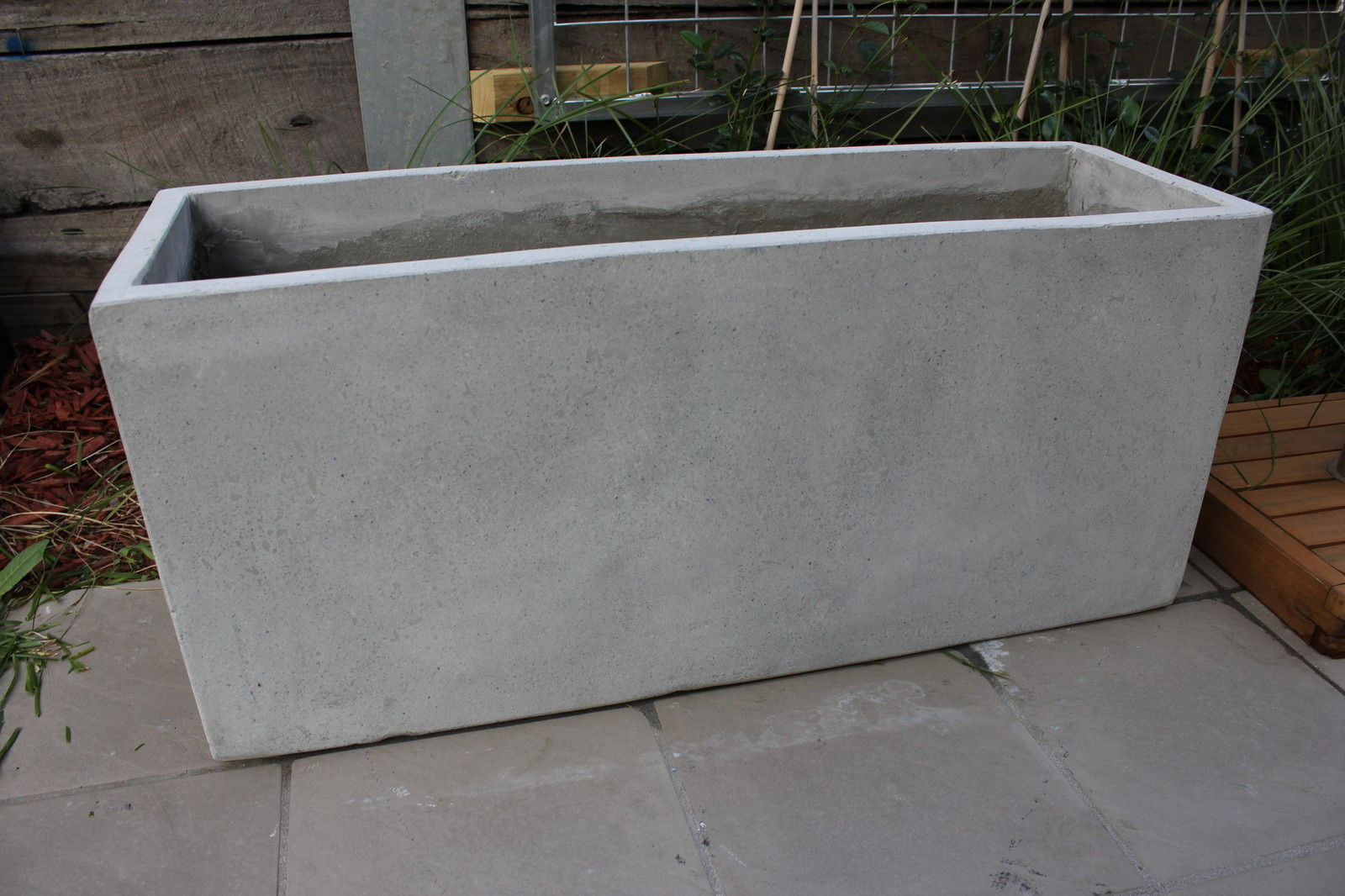 Concrete Garden Planters Garden Pots Batch Of 6 X 100cm Long Light Weight Concrete