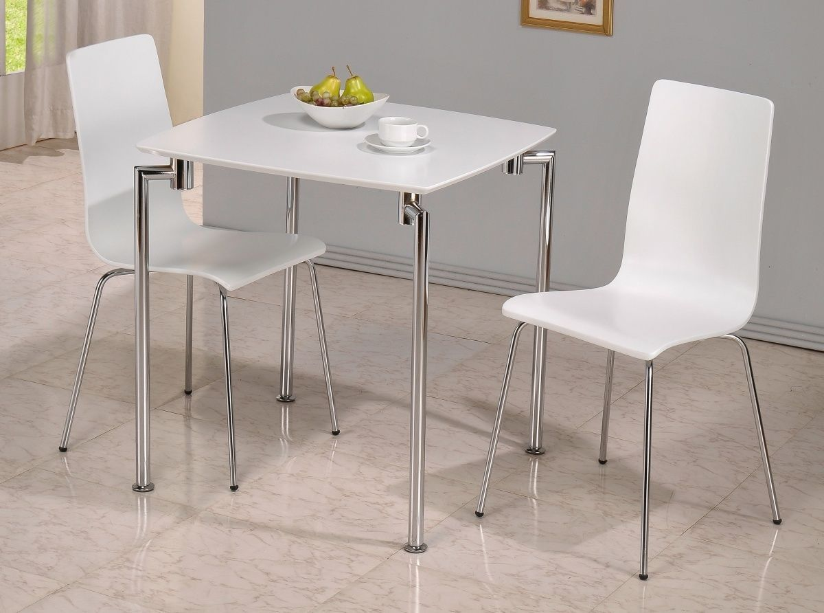 Small Kitchen Tables For Two Small White High Gloss Dining Table And 2 Chairs Homegenies