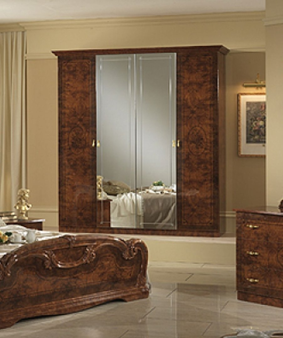 Italian Furniture Bedroom Italian Stylish High Gloss Walnut Bedroom Furniture Set