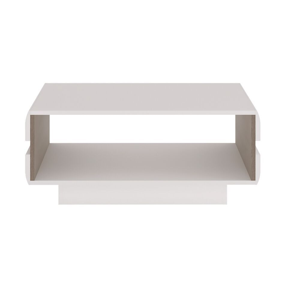 Couchtisch Weiß Klein Small White High Gloss Coffee Table - Homegenies