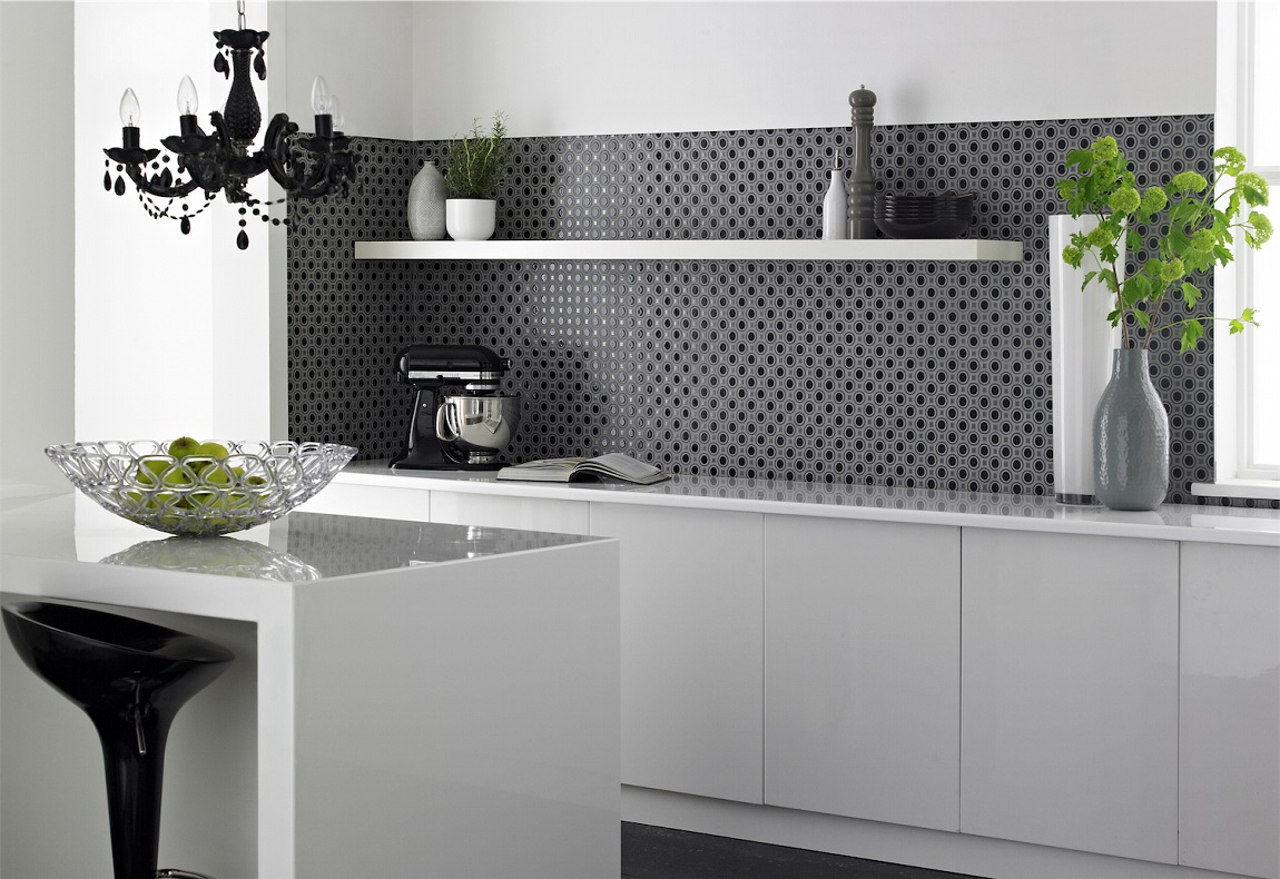 Black And White Kitchen Wall Tiles Rooms Black And White Kitchen Homegirl London