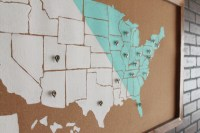 DIY USA Map Wall Art