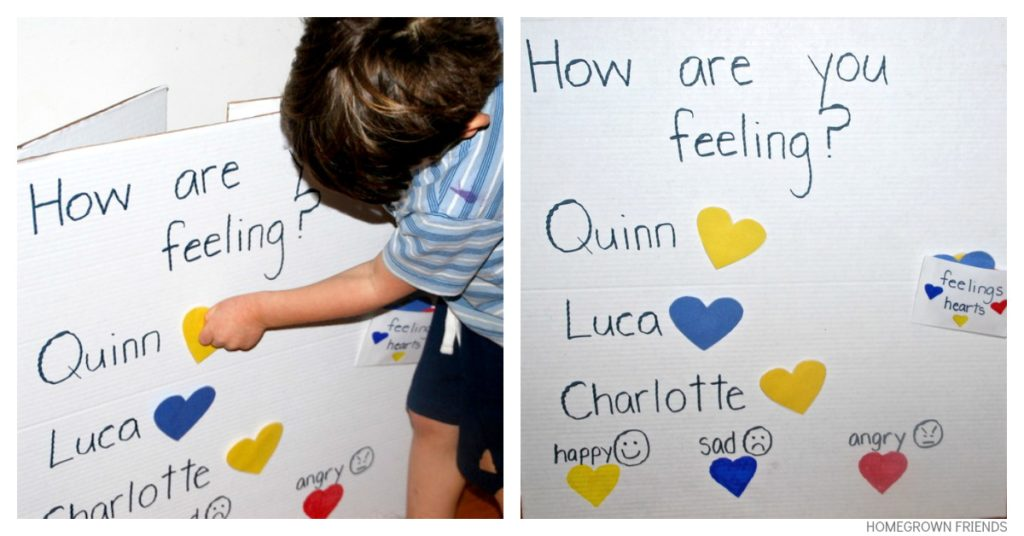 Feelings Chart for Children - Homegrown Friends - Feeling Chart