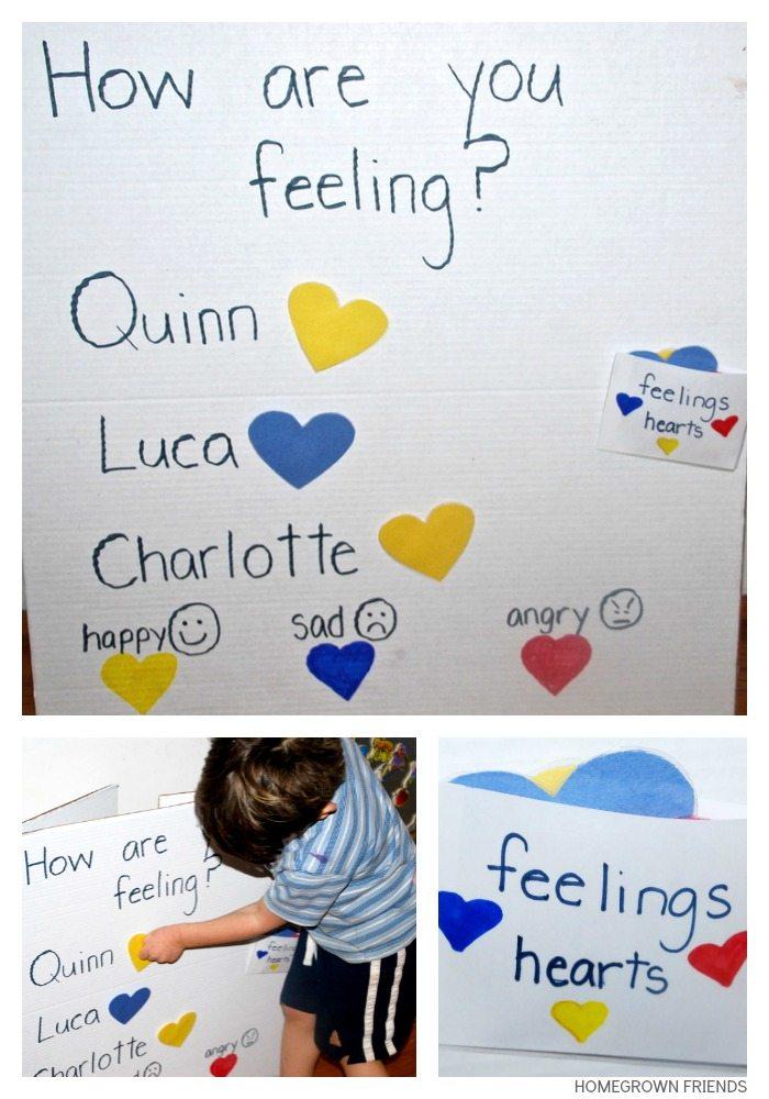 Feelings Chart for Children - Homegrown Friends
